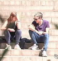 We Find Skinny A Stoner Girl In College Campus And Convince Her To Fuck A Long Dick - PelisXXX.me